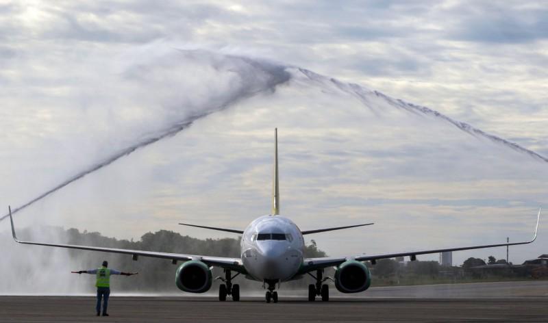 衣索比亞空難後不久,今日俄羅斯又有1架波音737-800客機在起飛後迫降,疑似是因為引擎故障。圖為波音737-800客機示意圖,非當事飛機。(資料照,法新社)