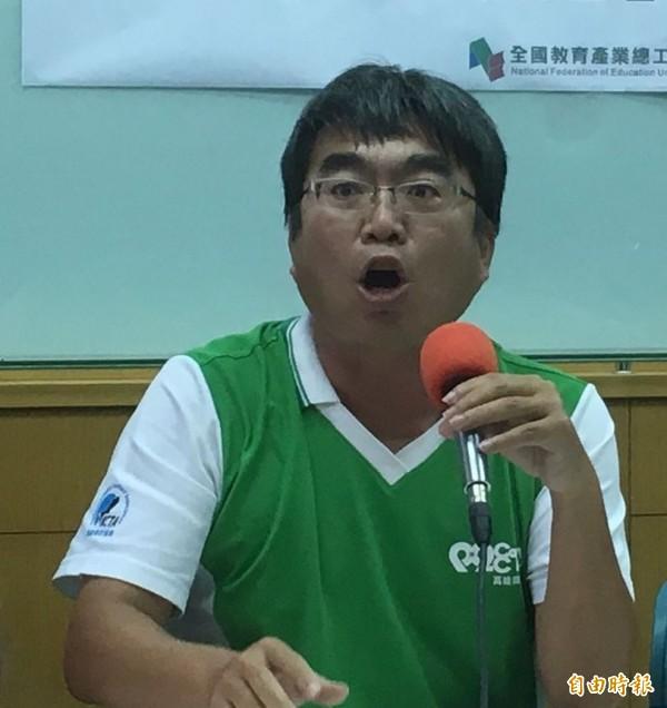 全國教育產業總工會秘書長劉亞平提醒韓國瑜,教育局長不能只有英文好。(資料照)