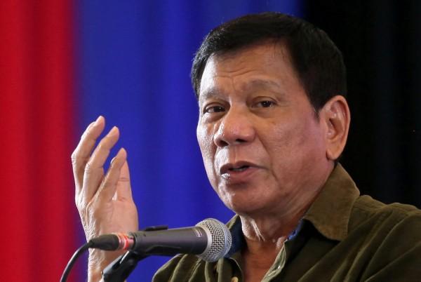 菲律賓總統杜特蒂。(資料照,路透)