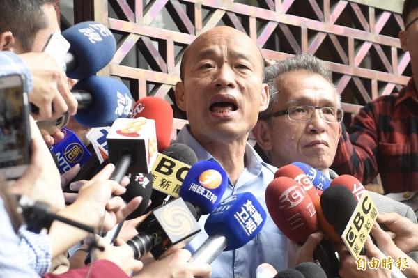 國民黨高雄市長候選人韓國瑜。(記者叢昌瑾攝)