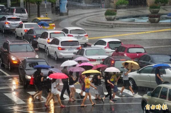 尼伯特颱風對北部影響較不大。(資料照,記者鹿俊為攝)