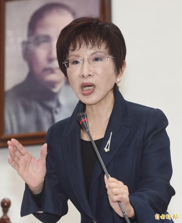 國民黨新任黨主席洪秀柱。(資料照,記者廖振輝攝)