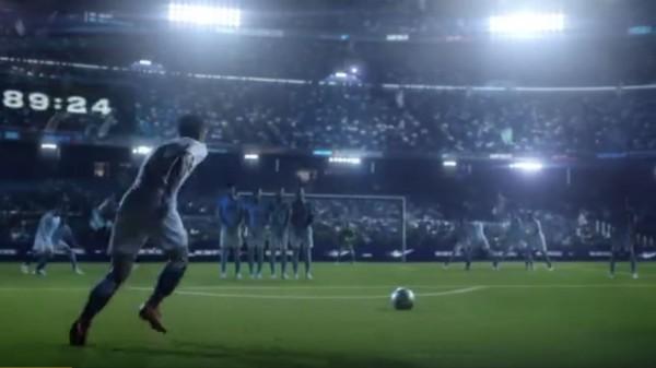Nike在中國微博貼出廣告「全憑我敢」,幻想中國足球在2033年稱霸全球足壇。(圖擷取自微博)