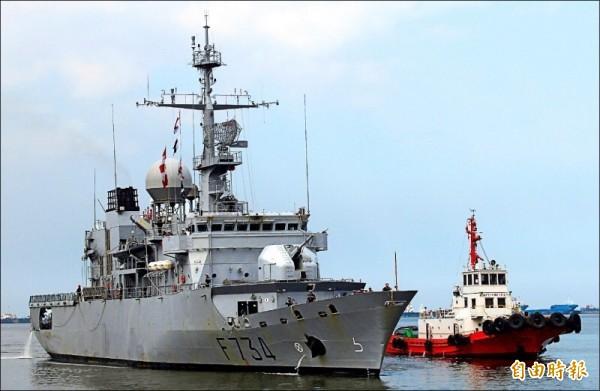 法國海軍巡防艦「葡月號(Vendemiaire)」本月6日通過台灣海峽,讓中國相當不滿。(資料照,路透社)