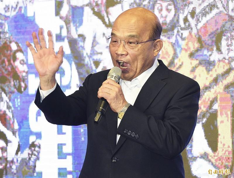 高雄大雨,行政院長蘇貞昌表示,國軍隨時待命救災。(資料照)
