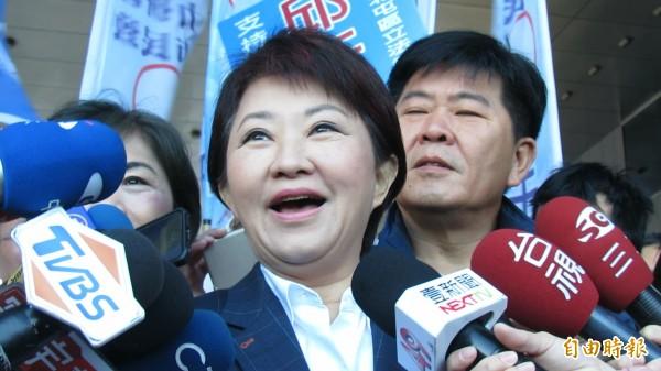 台中市長盧秀燕指出,花博款項問題是因去年前市府團隊沒付錢,又沒做好交接,發現第一期款項沒付,自己也「很訝異」。(資料照)