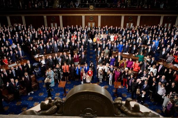 新眾議院今投票通過臨時預算案,但沒有納入川普要求的築牆經費。(法新社)