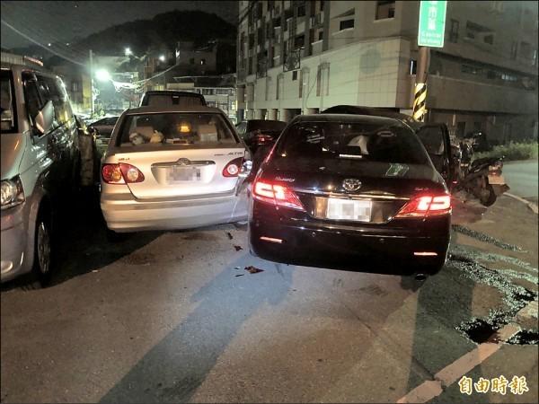 台北市議員童仲彥8月10日在基隆市酒駕肇事,撞壞停路旁的轎車。(資料照,記者林嘉東攝)