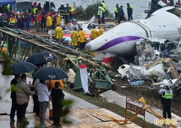 罹難者家屬前往空難現場招魂。(資料照,記者王藝菘攝)