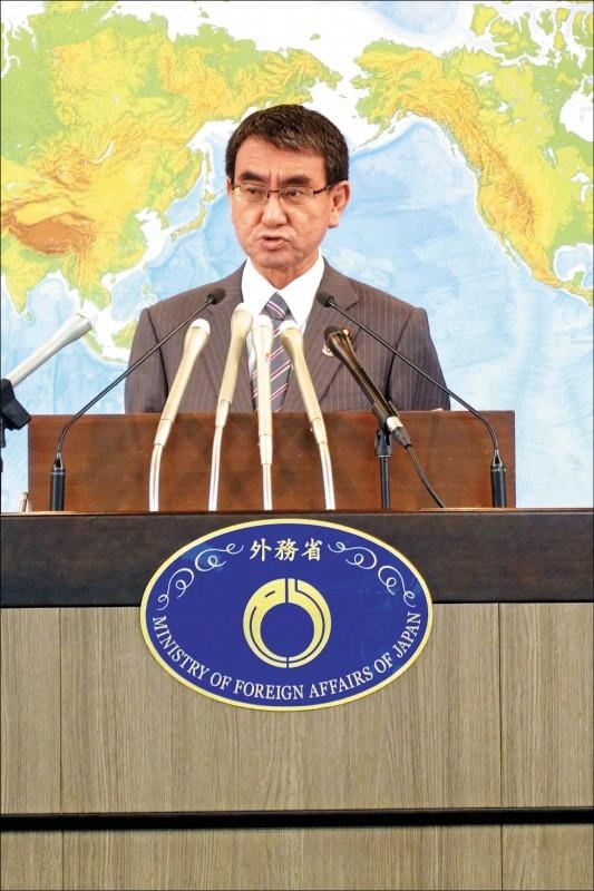 總統蔡英文表態希望與日本政府直接安保對話,日本外務大臣河野太郎昨表示,將會以維持雙方非政府間實務關係的立場予以適當妥切地應對。(駐日特派員林翠儀攝)