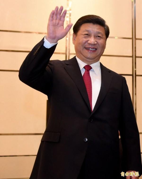 民調顯示,假如明年是由蔡英文當選總統,有近三成民眾認為,她「未來4年最難纏的對手」,是中國領導人習近平(見圖)。(資料照,記者劉信德攝)
