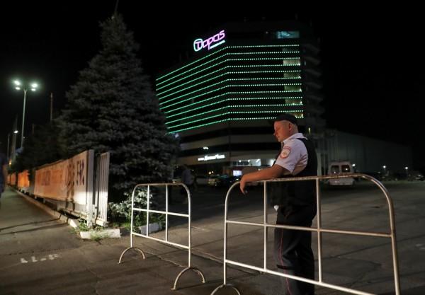 托普斯國會酒店昨驚傳炸彈威脅。(路透)