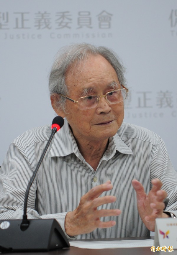 台灣戒嚴時期政治受難者關懷協會榮譽理事長蔡寬裕。(資料照)