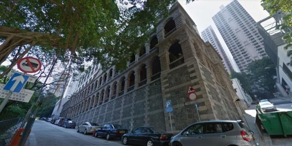 香港知名「高街鬼屋」過去是精神病院。(圖擷自Google地圖)