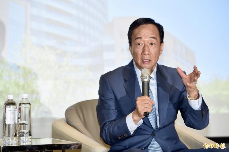 《TVBS》最新民調提到,蔡英文民調也勝過國民黨籍鴻海董事長郭台銘。(記者羅沛德攝)