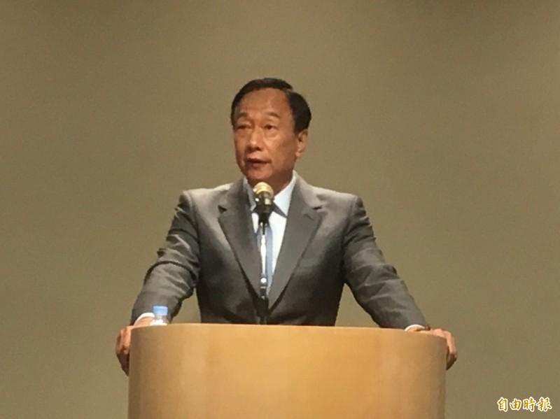 李戡認為,郭台銘(見圖)嗆中國,中方又不吭聲,助長台灣反中浪潮。(資料照)