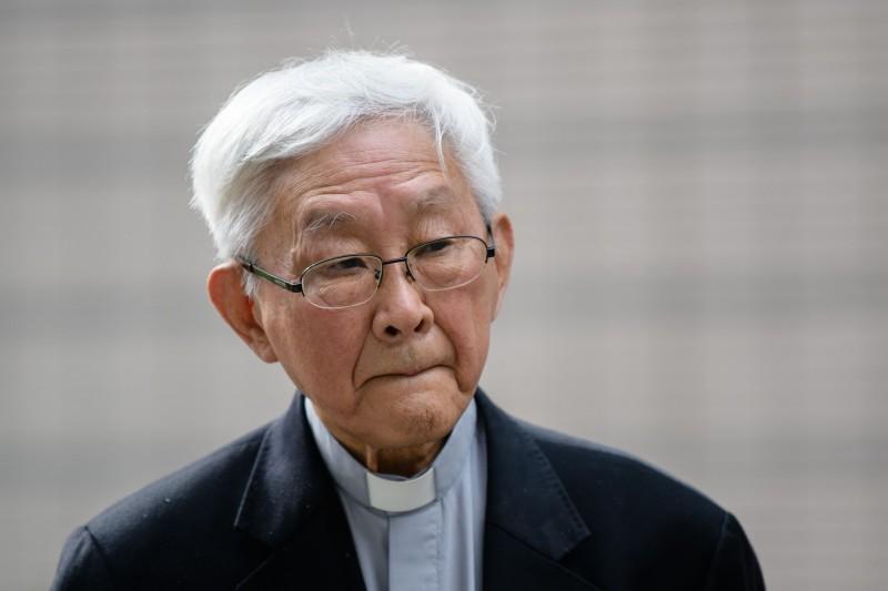 有港人認為逃犯條例可能影響以敢言著稱的香港榮休樞機主教陳日君的人身安全,陳也認為,中共隨時有罪名引渡他到中國。(法新社)