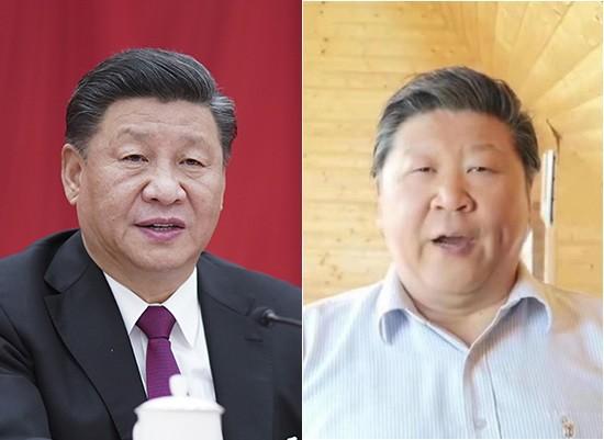 習近平(左)、劉克清(右)外貌相似度極高,引起熱烈討論。(美聯社、網路擷取)