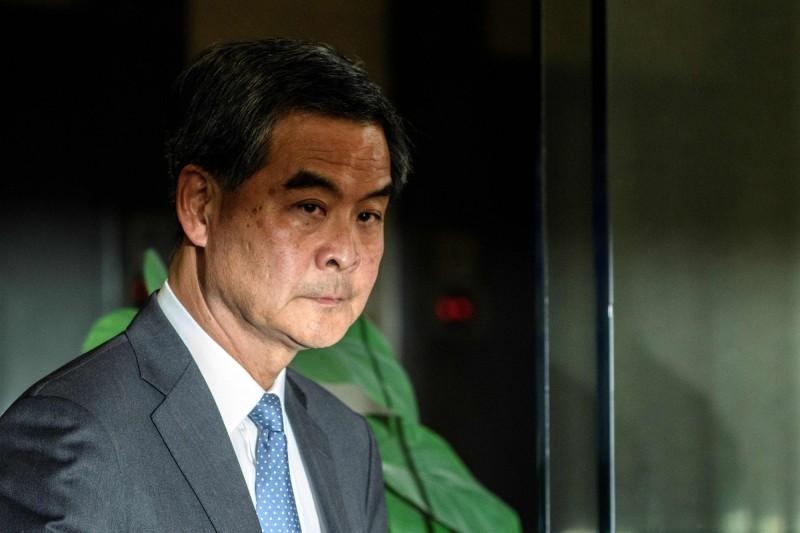 英媒《每日郵報》報導,前香港特首梁振英去信2英國議員尋求停止煽動香港的「錯誤言論」,但梁振英本人嚴正否認。(法新社)