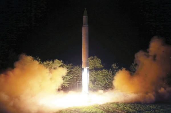 北韓聲稱全美國領土,都在最新試射的導彈射程範圍內。(美聯社)