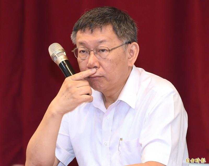 台北市長柯文哲對於是否出來參選總統的態度依舊曖昧。(記者廖振輝攝)
