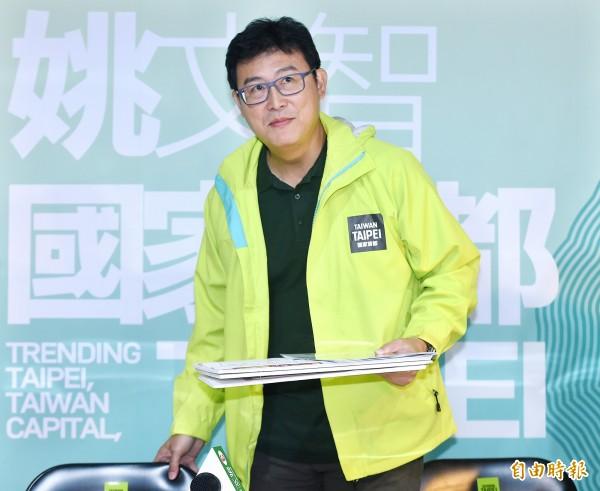 有親藍臉書粉絲專頁,為3位台北市長候選人對各議題的看法,製成簡表,卻意外幫姚文智(見圖)拉到不少票數。(記者廖振輝攝)