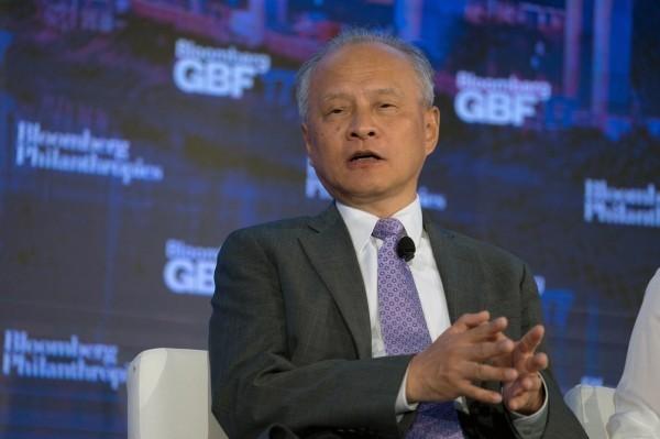 中國駐美大使崔天凱(圖)日前嗆聲,最終中國一定會統一台灣;美國務院回應指,將依法對台軍售。(彭博資料照)