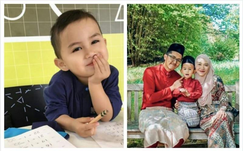 居住在英國的3歲馬來西亞籍男童納齊姆(Muhammad Haryz Nadzim),成為門薩協會最年輕的成員。(圖擷自sulaiman hasan推特) 