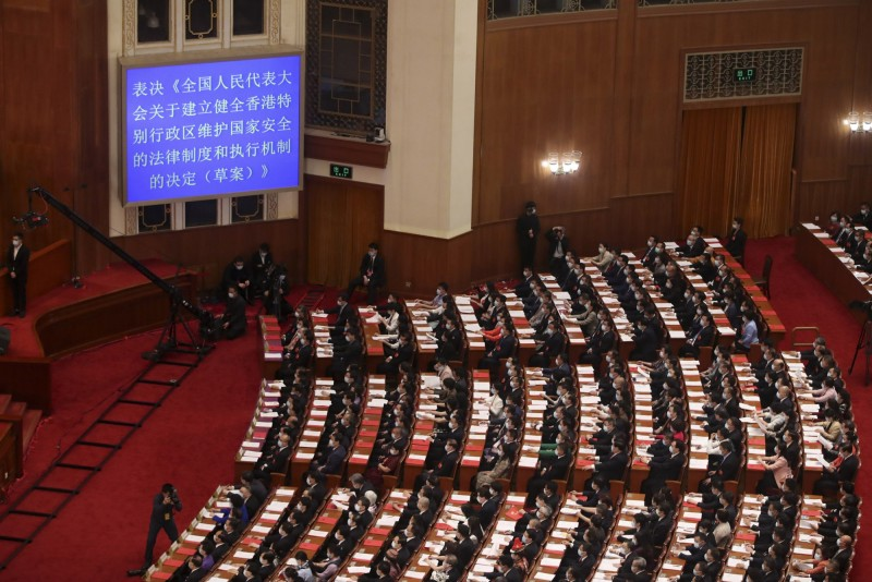 中國全國人大常委會今天閉幕。(中央社資料照)