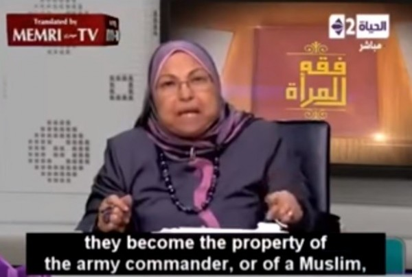 Saleh教授在電視專訪中談到,非穆斯林女性戰俘可以成為軍隊或穆斯林的財產。(圖擷自YouTube/FreedomPost.org)