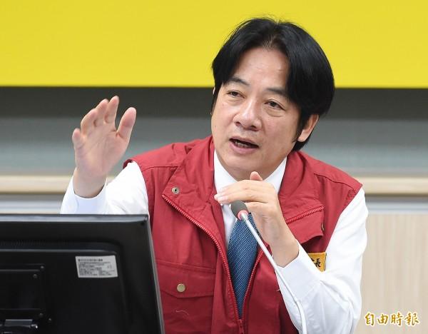 传行政院长赖清德最快本月10日提总辞。(资料照)