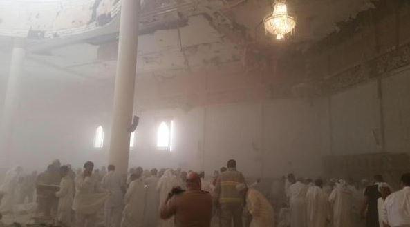 科威特清真寺爆炸,目前已造成25死202傷。(圖擷自 Amichai Stein推特)