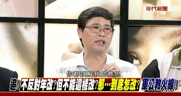 面對來賓和主持人的質疑,蕭秋華反稱對方誤解他的意思。(圖擷取自新聞追追追)