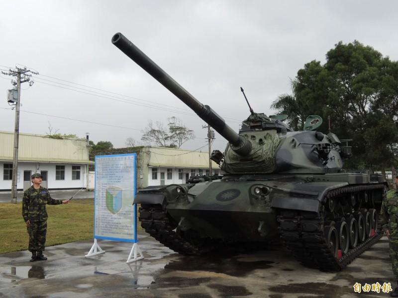 陸軍現役M60A3戰車。(資料照,記者羅添斌攝)