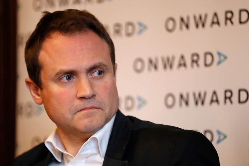 英國國會外交事務委員會主席圖根哈特(Tom Tugendhat)呼籲英國政府給予港人完整的英國國籍。(法新社,資料照)