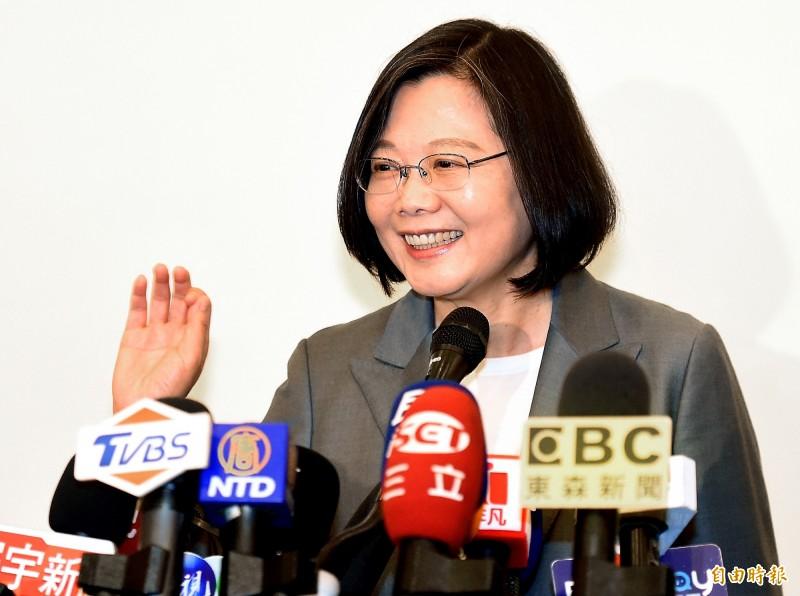總統致詞時首先歡迎柯納克社長伉儷來到台灣,並恭喜柯納克社長獲得國際扶輪社友的肯定,即將在2020至2021年度成為國際扶輪社第一位德國籍的社長。(資料照)