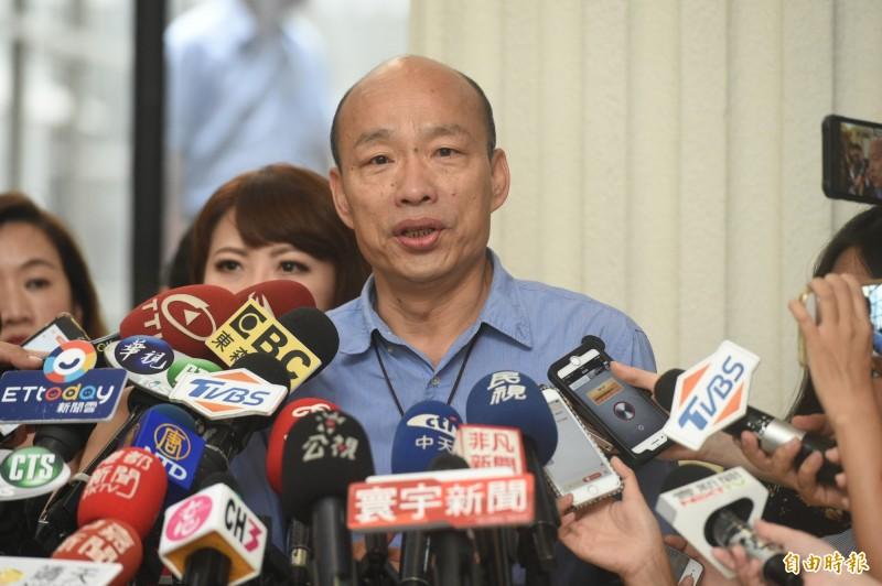 國民黨高雄市長韓國瑜2020總統大選民調不復以往,對此林濁水直指「最大的韓黑就是韓國瑜自己」。(資料照)