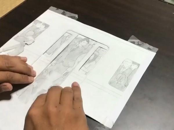用幾張紙就做出動畫,日本網友的紙芝居動畫讓網友瘋傳。(圖片由shin___geki授權提供使用)