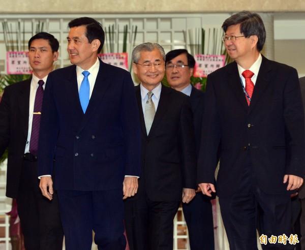 有黨政高層透露,總統馬英九的底線是新舊課綱並行。(資料照,記者王藝菘攝)