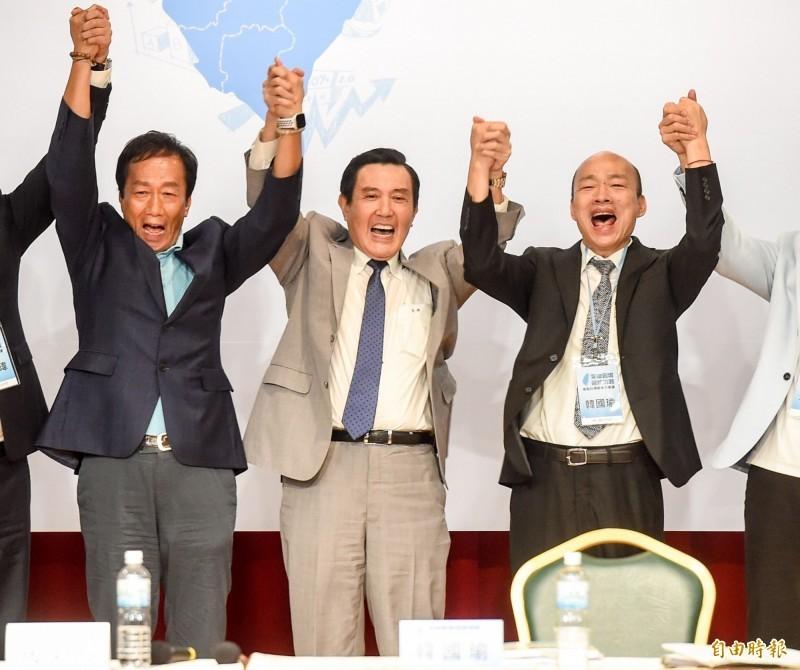 郭台銘宣布不參加2020總統獨立參選人連署,前台北市議員楊實秋分析,其實郭不選才恐怖,因為他認為韓國瑜敗選機率大,國民黨恐面臨「三殺」的慘輸局面。(資料照)