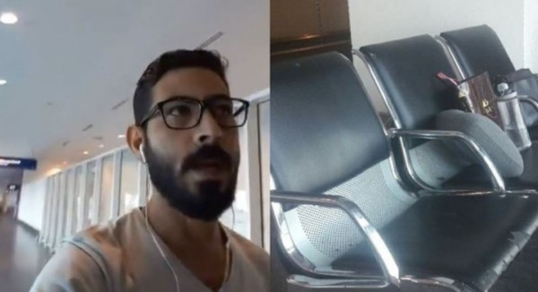 一名敘利亞男子因「特殊身分」,遭吉隆坡機場滯留超過1個月。(圖擷自Hassan Al Kontar《Twitter》)