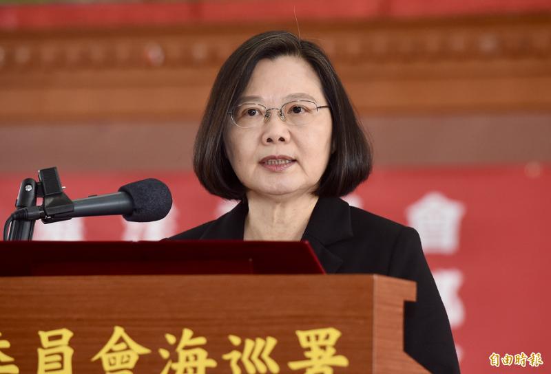 前總統陳水扁表示,蔡英文百分之百會成為民進黨下屆總統參選人。(資料照)