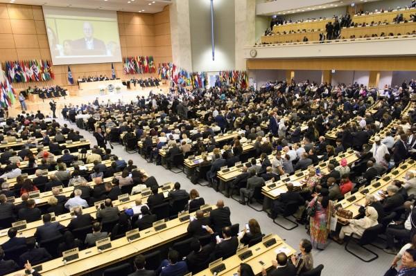 國際勞工大會(ILC)今天登場,外交部今天晚間表示,以非政府間國際組織身分參與大會的我國人士,目前都已平順換證進入ILC會場。(歐新社)