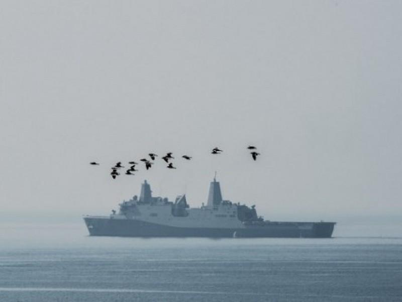 美軍Green Bay號軍艦訪港被中國拒絕。(法新社資料圖片)