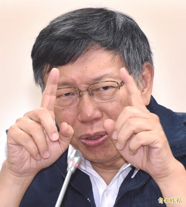 這次北北基首次決策不同讓使政壇出現口水戰,而先前排除眾議相信專業的台北市長柯文哲準確決策也讓他被廣大的市民恭維。(資料照)