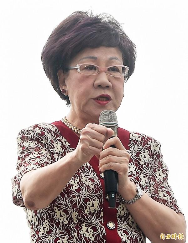 前副總統呂秀蓮認為,「洪習會」中國目的是為了要分裂國民黨,也分裂台灣。(資料照,記者廖振輝攝)