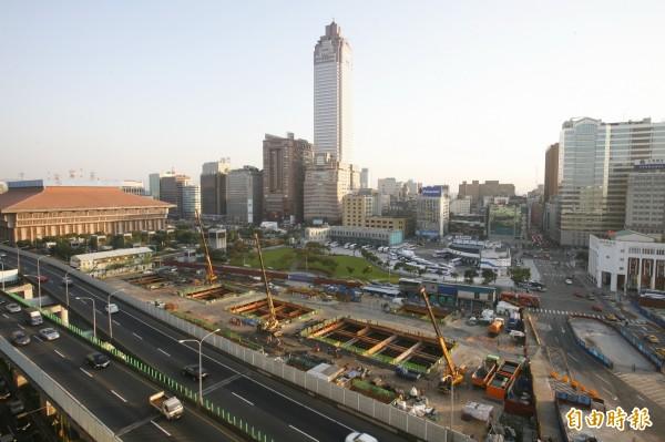 台北雙子星大樓預定地位於重慶南路與市民大道口。(資料照)