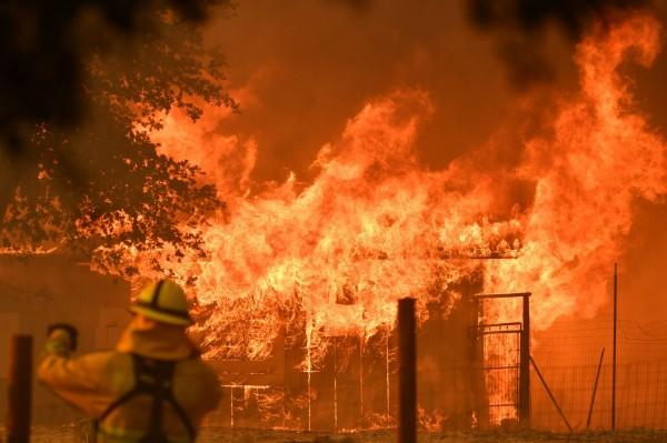 北半球迎來炎熱又致命的夏季,許多國家發生野火奪走人命且燒毀大片區域。圖為加州野火。(法新社)