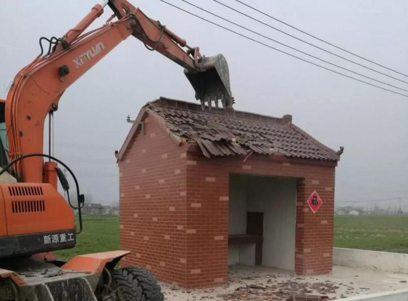 江蘇高郵市用26天拆毁近6千座土地廟。(圖擷取自網路)