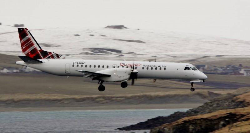 蘇格蘭洛根航空(Loganair)在奧克尼群島營運的航班,是全球最短的定期航線。(圖擷自Loganair臉書)